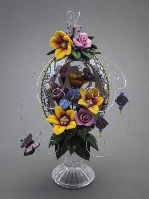 "Second Place: ""Summer's Floral Bouquet"" created by Laura Schiller, Westminster, Colorado, IEAG"
